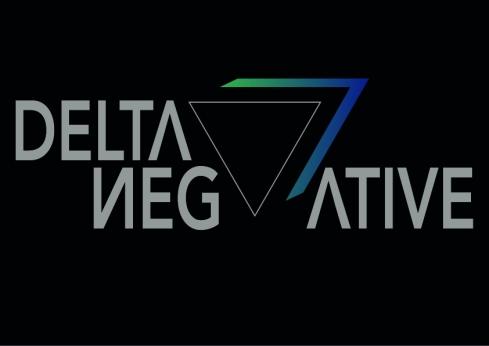 Delta Negative Lettering