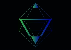 Delta Negative Logo